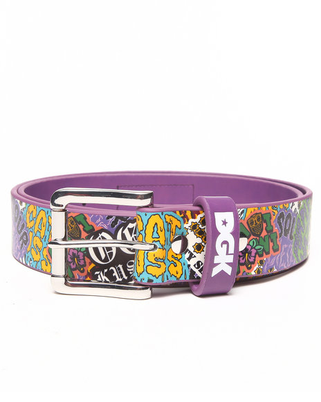 Dgk Flavas Printed P U Leather Belt Purple