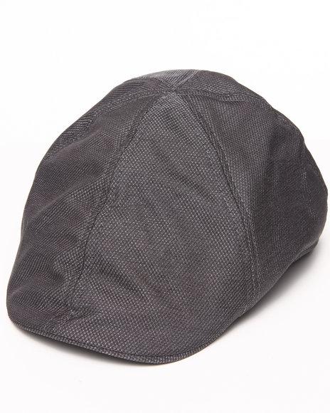 Drj Accessories Shoppe - Men Grey Ivy Cap Shiny Honeycomb Pattern Hat