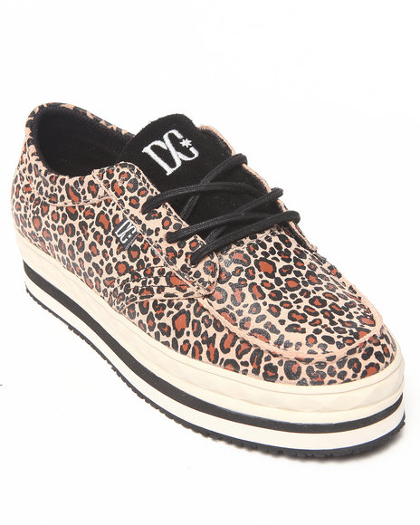 Dc Shoes - Women Animal Print,Brown Womens Dc Creeper Sneakers