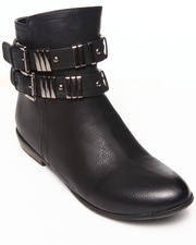 Fashion Lab - Always Sunny Bootie w/metal detail at ankle