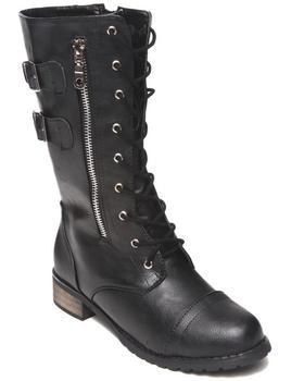 Fashion Lab - Paulita Combat Boot W/buckle detail