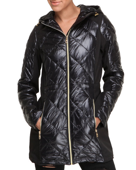 Steve Madden Black Heavy Coats