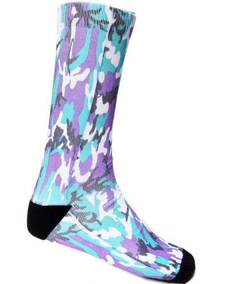 Buyers Picks Men Grape Sublimation Socks Multi