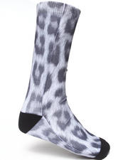 Men - Snow Leopard Sublimation Socks