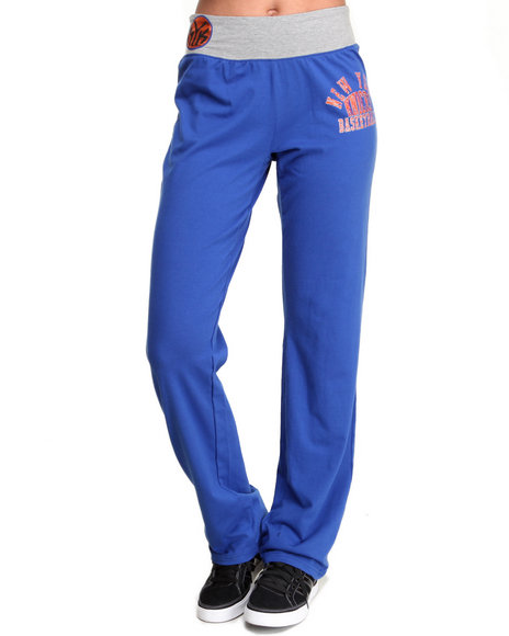 Nba Mlb Nfl Gear - Women Blue Knicks Overtime Sweatpants