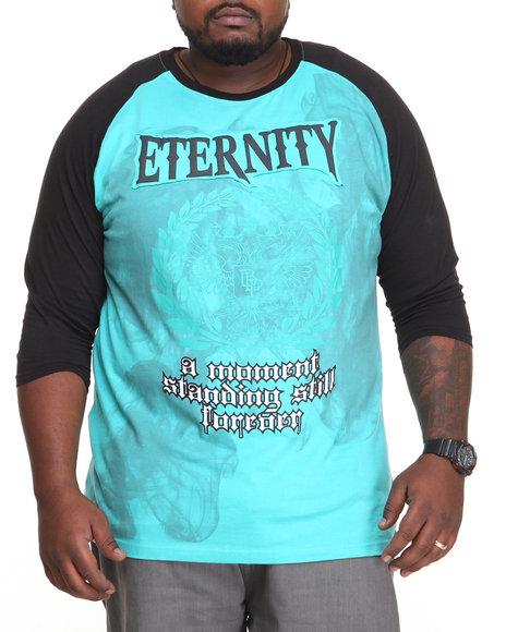 Ur-ID 212693 Blac Label - Men Teal Eternity Raglan Tee (B&T)