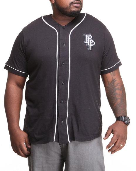 Blac Label - Men Black B L P Baseball Jersey Button-Down (B&T)
