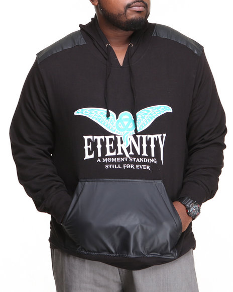 Blac Label Black Eternity P U Trimmed Hoodie (Big & Tall)