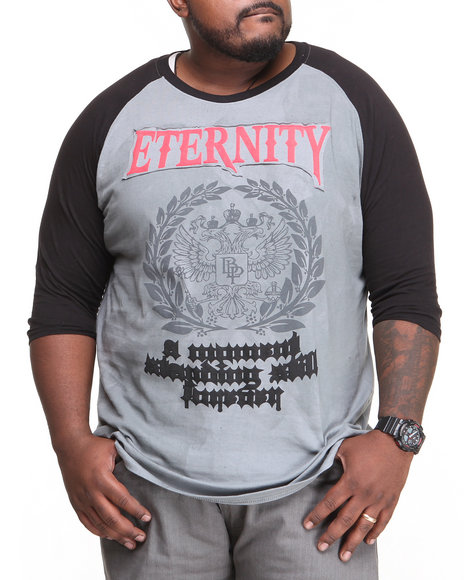 Blac Label - Men Grey Eternity Raglan Tee (B&T) - $17.99