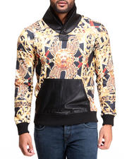 Double Needle - Golden Lion Shawl - Neck Sweatshirt