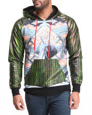 Double Needle - Stealth P/U Ostrich-Treated Trimmed Hoodie