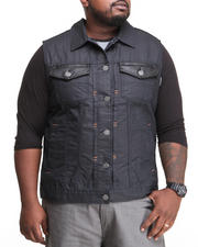 Men - B L P - P U  - Trimmed Denim Vest (B&T)