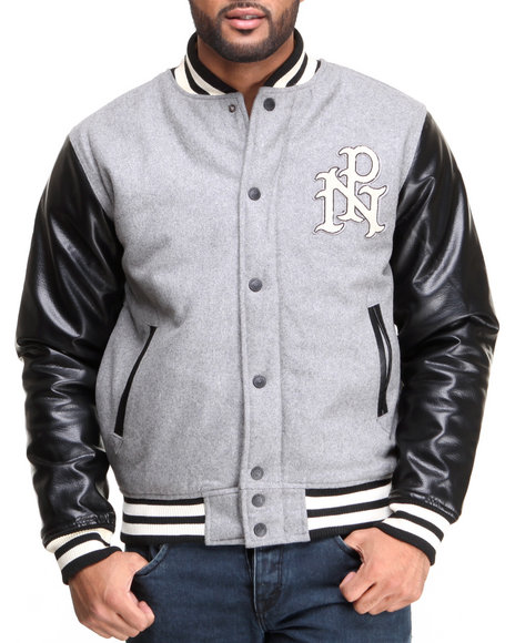 Parish Grey Maneater Varsity Jacket