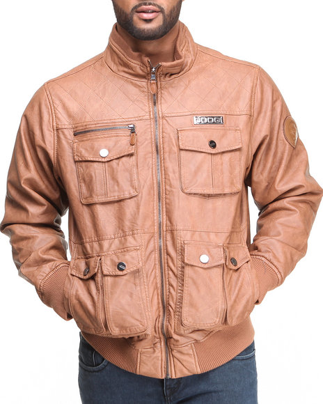 Coogi Tan Leather Jackets