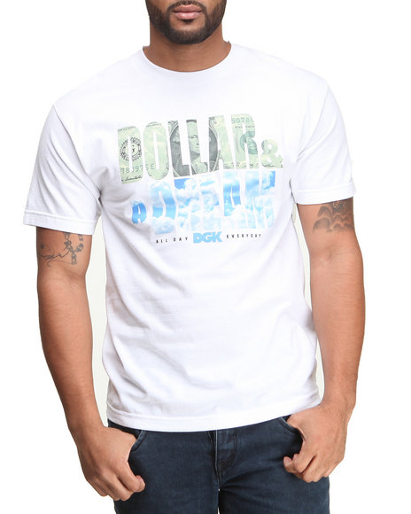 DGK White Dollar & A Dream Tee