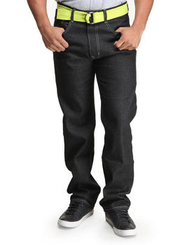 Akademiks - Hewitt  5 Pocket Belted Raw Denim Jeans