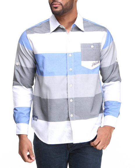 Akademiks Blue Oscar L/S Plaid Button Down Shirt