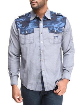 Akademiks - Charlie Camo Detail L/S Button Down Shirt