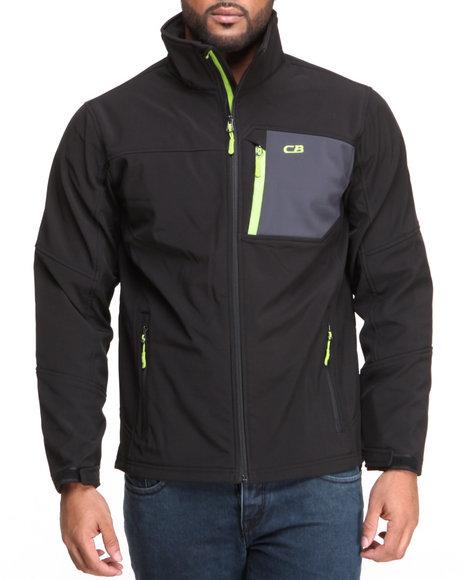 Cb - Men Black Softshell Full Zip Jacket - $28.99