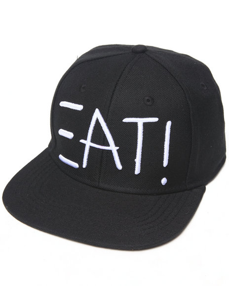 Bass By Ron Bass E A T Snapback Hat Black