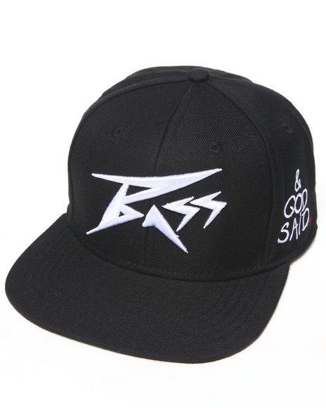 Bass By Ron Bass Icon Snapback Hat Black