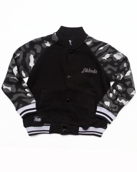 Akademiks - Boys Black Leopard Track Jacket (4-7)