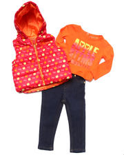 Holiday Shop - Girls - 3 PC SET - PUFFER VEST, TEE, & JEANS (INFANT)