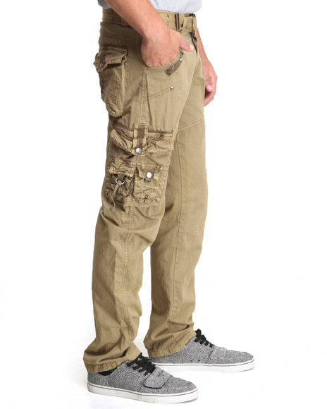 Basic Essentials - Men Khaki Jetlag Cargo Pants