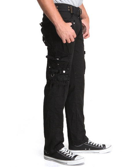 Basic Essentials - Men Black Jetlag Cargo Pants