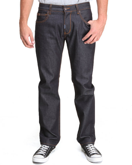 LRG - Men Raw Wash Track & Feel True - Straight Denim Jeans