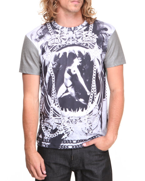 Double Needle - Men Grey Black Mermaid Sublimated S/S Tee
