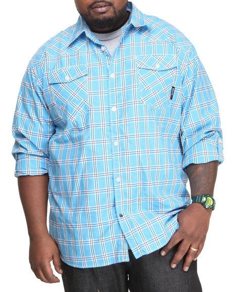 Enyce - Men Blue Duke L/S Button-Down (B&T)