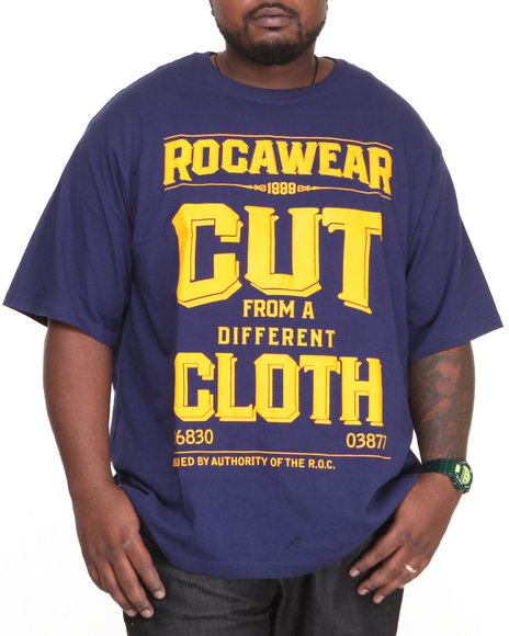 Rocawear - Men Dark Blue Cfdc Tee (B&T)