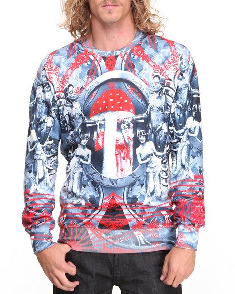 S - M - W - Men Red Metropolis Crewneck Sweatshirt