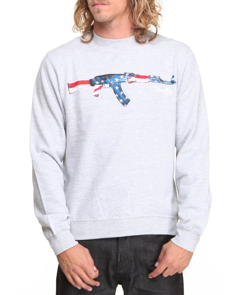 Deadline - Men Grey Ak-47 Crewneck Sweatshirt