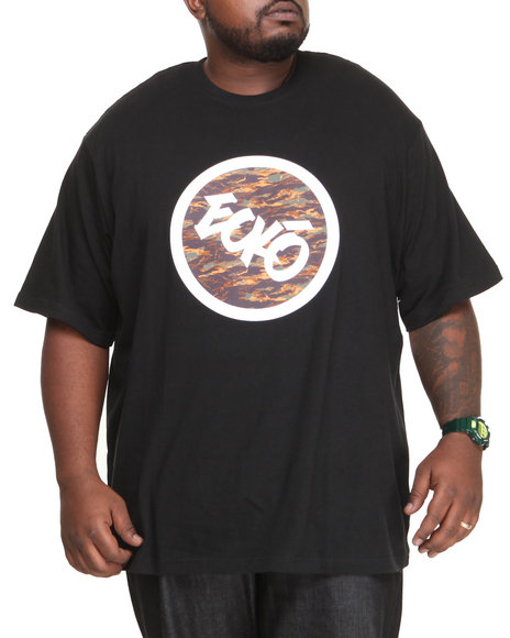 Ecko - Men Black Camo Circle T-Shirt
