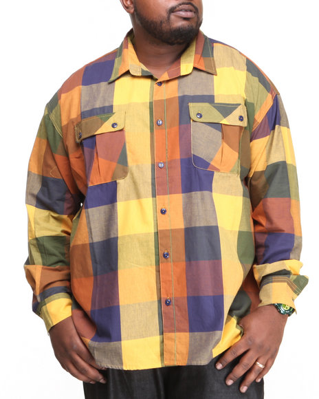 Rocawear Yellow Lumberjack L/S Button-Down (Big & Tall)