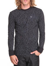 Thermals - Leopard L/S Printed Crew Thermal