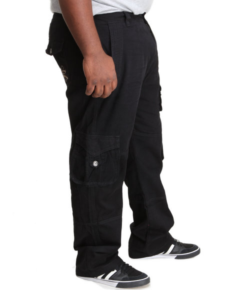 Coogi - Men Black Coogi Legacy Cargo Pants (B&T) - $36.99