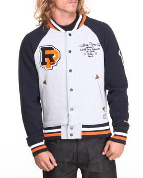 Rolling Paper - Fleece Varsity Jacket