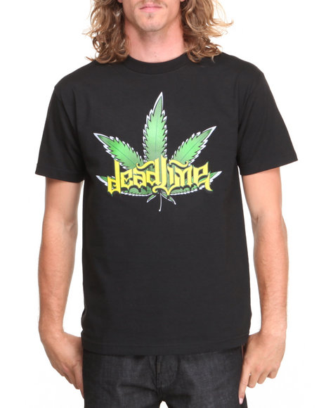 Deadline - Men Black Leaf Tee