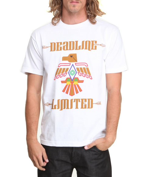 Deadline - Men White Indian Tee