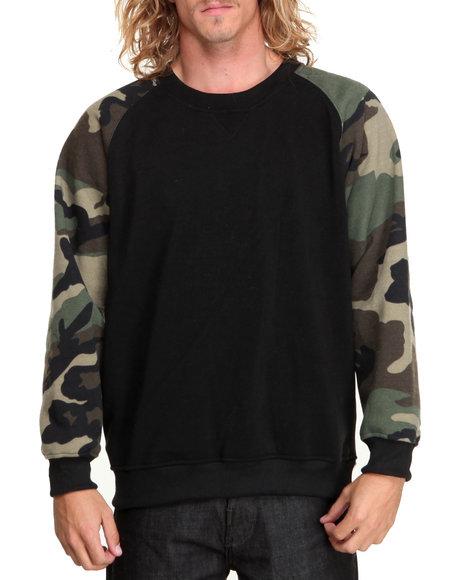 Black,Camo Pullover Sweatshirts