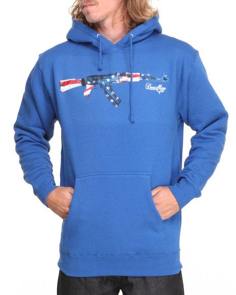 Deadline - Men Blue Ak-47 Pullover Hoodie