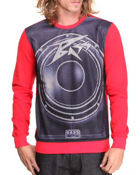 Bass By Ron Bass Red Speaker Box Crewneck Sweatshirt