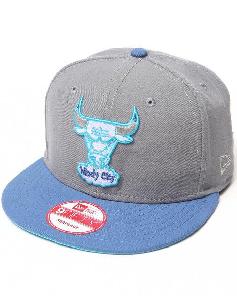 New Era Men Chicago Bulls Bluez Custom 950 Snapback Hat Grey