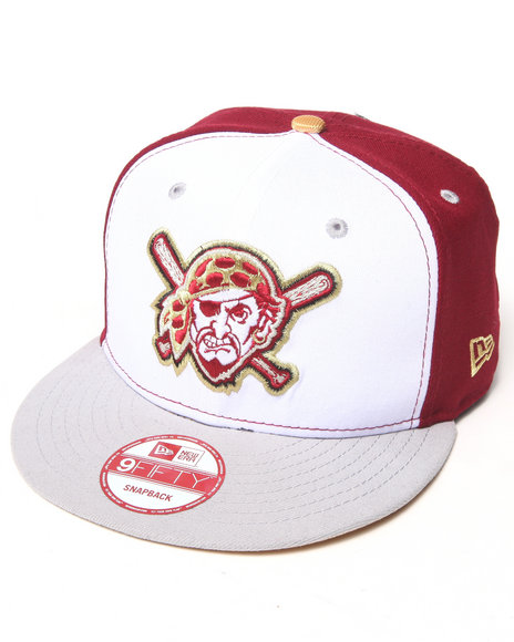 New Era Men Pittsburgh Pirates Regal Edition Custom 950 Snapback Hat Red