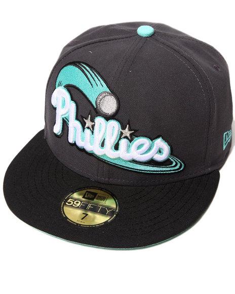 New Era - Men Grey Philadelphia Phillies Cosmic Edition Custom 950 Fitted Hat