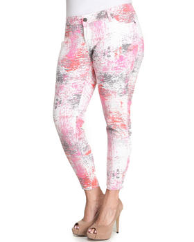 Basic Essentials - Paint Can Skinny Jean Pants (plus)