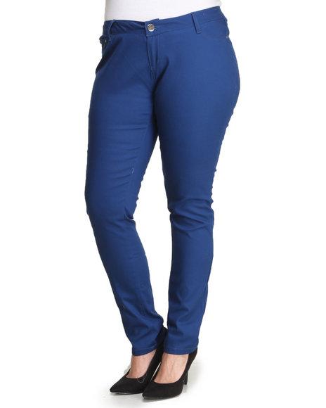 Basic Essentials - Women Blue Estate Blue Skinny Jean Pants (Plus)
